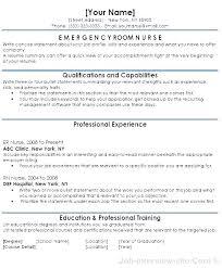 Er Charge Nurse Sample Resume Interesting Er Nursing Resume Nursing Resumes Template Resume Free Word Samples