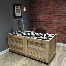 wood desks for office. reclaimed pallet wood desk with rolling castors customizable paintedprinted top handmade in desks for office l