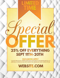 Special Offer Sale Flyer Poster Social Media Design Small