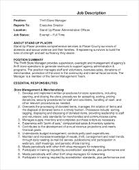 Sample Store Manager Job Description 10 Examples In Pdf Word
