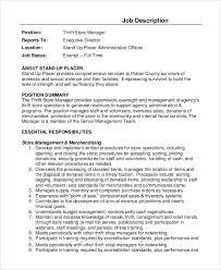 director job description sample store manager job description 10 examples in pdf word