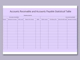 Schedule Of Accounts Receivable Template Wps Template Free Download Writer Presentation