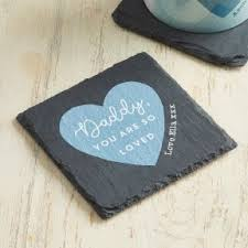 personalised blue so loved design slate coaster