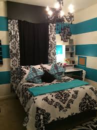 teen bedroom ideas teal and white. Brilliant White Black White U0026 Teal Teens Bedroom Stripes And Real Accents  Throughout With Teen Bedroom Ideas And White 3