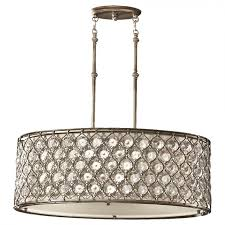 murray feiss f2569 3bus lucia 3 light chandelier in burnished silver with cream fabric shade