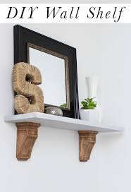 how to build a diy wall shelf with corbels
