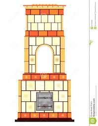 Retro Masonry Heater Stock Illustration Illustration Of