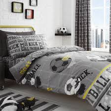 grey and black football duvet cover sets