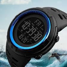 <b>Skmei</b> Luxury Brand <b>Mens Sports Watches</b> Dive 50m <b>Digital</b> LED ...