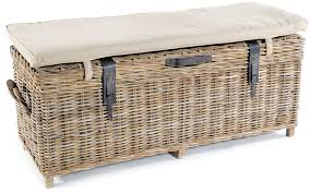 Awesome Wicker End Of Bed Storage Bed With Doors And Replacement Cushion