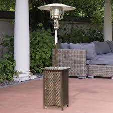 gallery of garden treasures 60 60 btu mocha steel tabletop