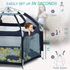 Exqline Portable Safety Kids <b>Playpen</b> for Infants and <b>Babies</b> ...