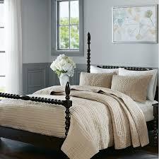 Dolce Solid Beige Cotton Quilt Set - Luxury Bedding – Sky Iris & Dolce Solid Beige Cotton Quilt Set Adamdwight.com