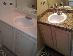 Alluring Delleydew Painted Faux Granite Countertop Of Bathroom