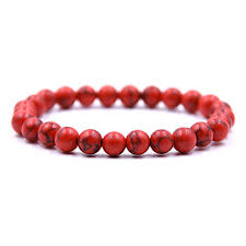 2019 <b>High Quality 8mm Elasticity</b> Red Stone Beaded Bracelet Yoga ...