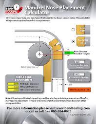 Conduit Mandrel Size Chart Mandrels Bend Tooling