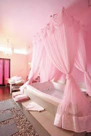 how to decorate a pink bathroom pink bathtub canopy