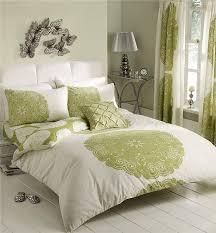 details about double duvet cover set lime green cream bedding double quilt cover set