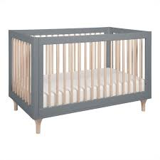 Babyletto Lolly 3-in-1 Convertible Crib in Grey and Washed Natural ...