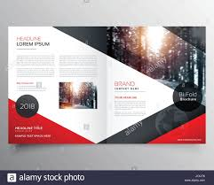 Creative Title Page Creative Red And Black Bifold Brochure Or Magazine Cover Page Design