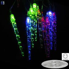 Yy <b>5M</b> 28 <b>LED</b> Waterproof RGB <b>Icicle</b> Pendants String <b>Lights</b> ...