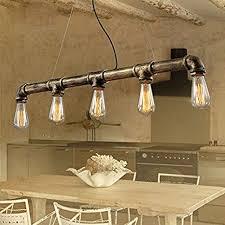 antique pendant lights. Vintage Pendant Lights Water Pipe Lamp With 5pcs E27 Edison Bulbs Bronze Color Antique Lighting