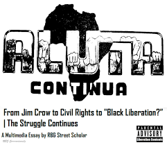 "aluta continua from jim crow to civil rights to ""black liberation  rbg aluta continua cover2"