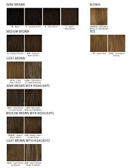 European Color Chart Premium Natural Looking Human Hair Wigs L Milano Collection