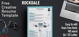 Indesign Resume Template Rockdale Creative Resume Template Free