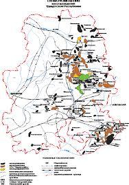 Отчет по преддипломной практике в НГДУ Киенгоп ОАО Удмуртнефть Схема размещения месторождений в Удмуртской республике