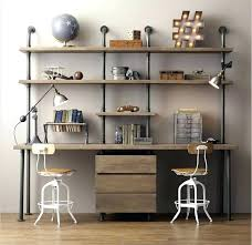 industrial style home office. Beautiful Home Double Sided Desk Antique Desks Home Office Designs Industrial Style D Intended