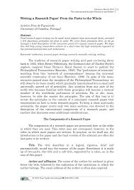 Pdf Writing A Research Paper From The Parts To The Whole