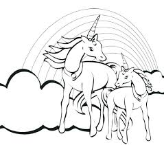 coloring pages for kids cars hard unicorn page printable rainbow free