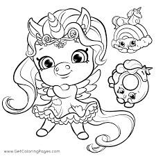 Shopkins Unicorn Coloring Page Get Coloring Pages