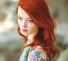 red hair natural Tattoos. Red hair. Big eyes. Three reasons why.