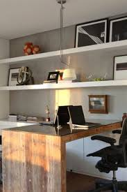 two desk home office. i like the idea of using wall and putting two desk together shared home officesfloating office