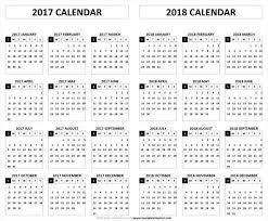 2017 2018 calendar printable template pdf holidays and festivals