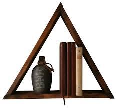 wooden triangle shelf contemporary home decor by straight faced woodworking