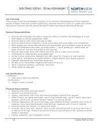 Groundskeeper Resume Groundskeeper Resume Groundskeeper Resume Cover Letter 10