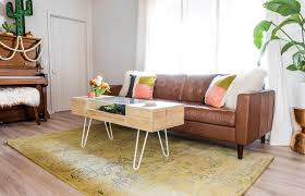So that became the inspiration behind this coffee table. I wanted something  that felt like the right shape and size for in front of our brown couch, ...