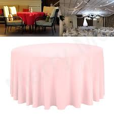 pink table cloth round wedding tablecloth fitted home linen dining table cover birthdat decoration table clothes tablecloths