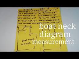 Blouse Shoulder Measurement Chart 36 42 Size Boat Neck Blouse Measurement Chart How To Take