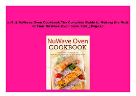 Download_ P D F Nuwave Oven Cookbook The Complete Guide To
