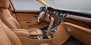 bentley mulsanne interior. bentley mulsanne front cabin with tan leather interior and veneer finish motors l