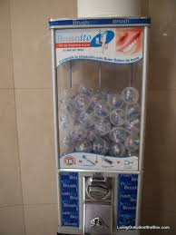 Toothbrush Vending Machine Extraordinary Direct Flight To Europe Living Outside Of The Box Living Outside