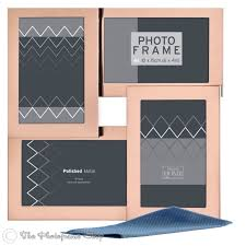 rose gold stainless steel multi aperture photo frame for four 6 x 4 pictures pi07929 by innova