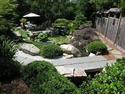 Japanese-inspired garden with koi pond asian-garden