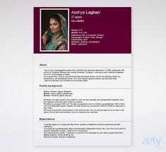 Bio Data Latest Format Sample Biodata Format For Marriage A Job Ms Word Form