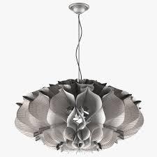 paper chandelier 3d model max fbx 6