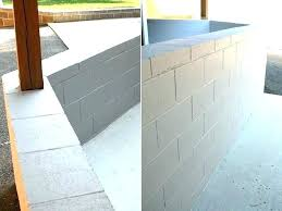 painting block wall how to paint cinder walls in basement concrete ideas sealer